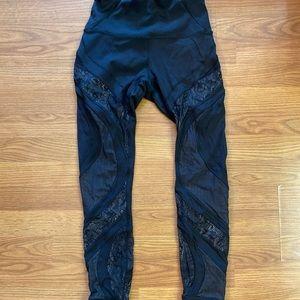 Lululemon High Waisted Lace Leggings